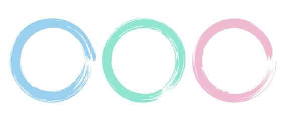 Brush Circle Logo template Vector Design