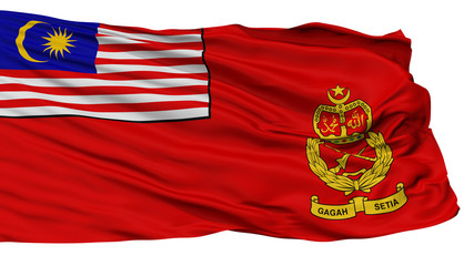 Malaysian Army Flag, Isolated On White Background, 3D Rendering