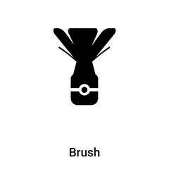 Brush icon vector isolated on white background, logo concept of Brush sign on transparent background, black filled symbol