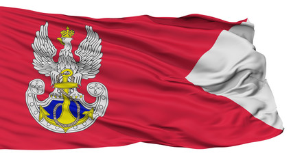 Navy Iiirp Flag, Isolated On White Background, 3D Rendering