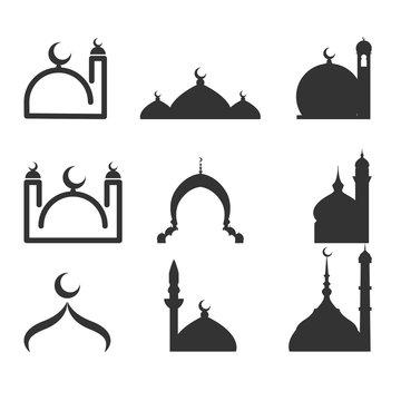 mosque logo set