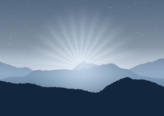 Night landscape background