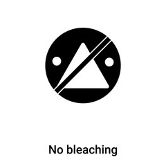 No bleaching icon vector isolated on white background, logo concept of No bleaching sign on transparent background, black filled symbol