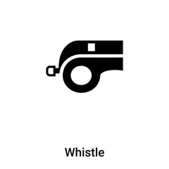 Whistle icon vector isolated on white background, logo concept of Whistle sign on transparent background, black filled symbol