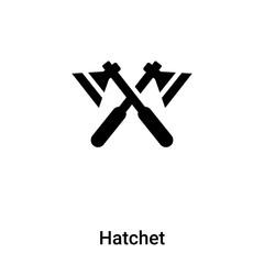 Hatchet icon vector isolated on white background, logo concept of Hatchet sign on transparent background, black filled symbol
