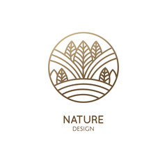 Nature linear logo forest landscape