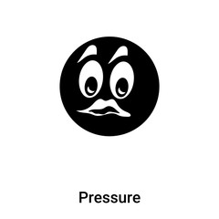 Pressure icon vector isolated on white background, logo concept of Pressure sign on transparent background, black filled symbol