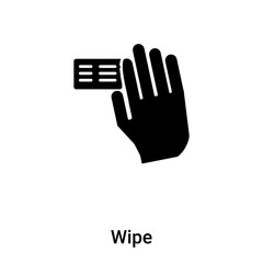 Wipe icon vector isolated on white background, logo concept of Wipe sign on transparent background, black filled symbol