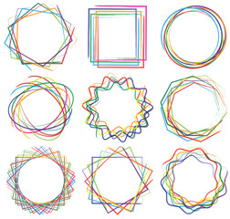 line shape art frame set 04