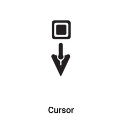 Cursor icon vector isolated on white background, logo concept of Cursor sign on transparent background, black filled symbol