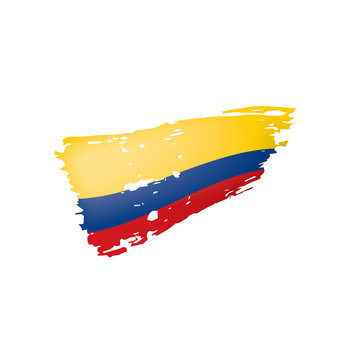 Colombia flag, vector illustration on a white background.