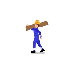 Workwear Carrying Tools Illustration