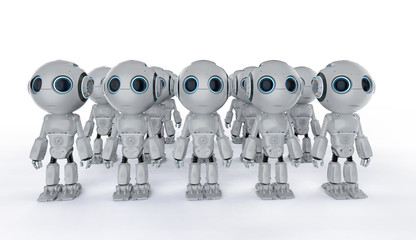 mini robots assembly