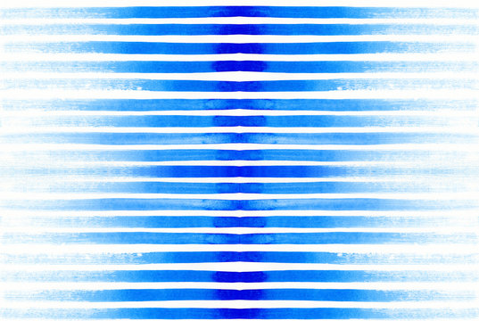 Watercolor similar pattern with bright blue lines
