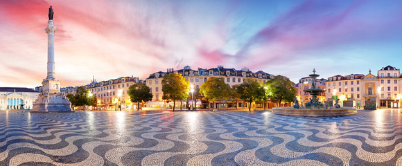 Lisbon panorama in Rossio square, Portugal