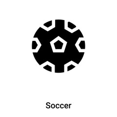 Soccer icon vector isolated on white background, logo concept of Soccer sign on transparent background, black filled symbol