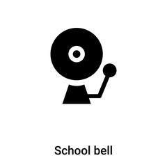 School bell icon vector isolated on white background, logo concept of School bell sign on transparent background, black filled symbol
