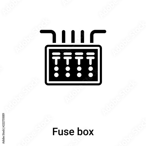 fuse box icon vector isolated on white background, logo concept of