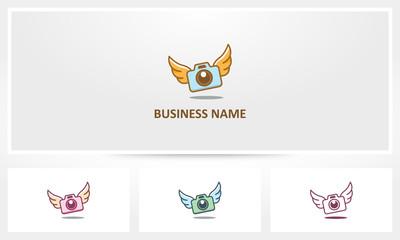 Camera Wings Photography Fly Logo