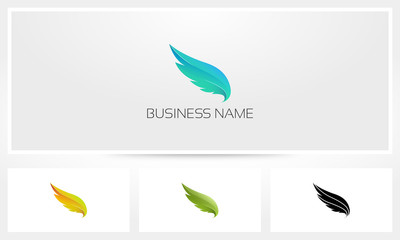Wings Feather Logo
