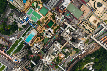 Top down of Hong Kong residential building