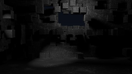 cube abstract background 3d rendering image