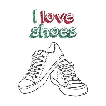 illustration for logo - shoe store
