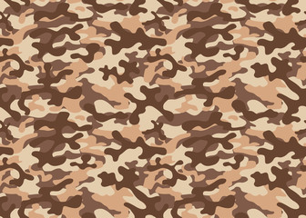Seamless camouflage pattern. Khaki texture, vector illustration military repeats army hunting