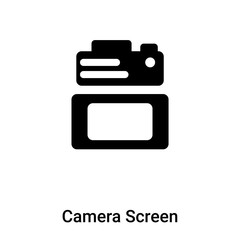 Camera Screen icon vector isolated on white background, logo concept of Camera Screen sign on transparent background, black filled symbol