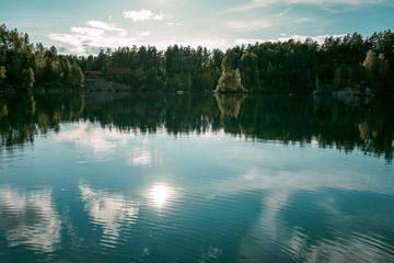 Beautiful Blue Lake in Siberia, Russia