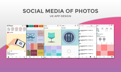 Social Media of Photos - UX App Design
