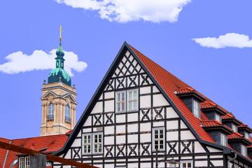 Eisenach, Georgenkirche, Fachwerkhaus