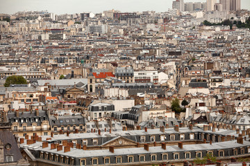 Elevated view over Paris