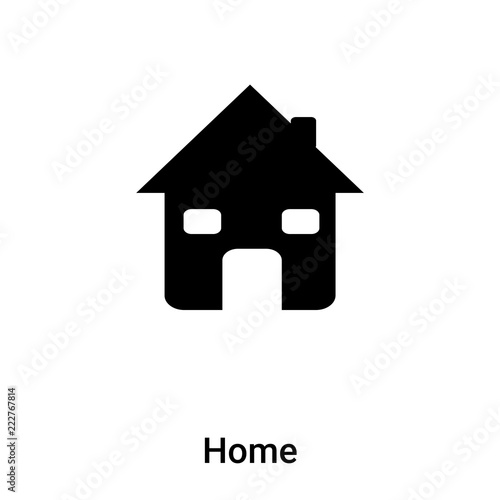 Home Icon Vector Isolated On White Background Logo Concept Of Home