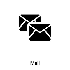 Mail icon vector isolated on white background, logo concept of Mail sign on transparent background, black filled symbol