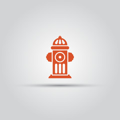 Red fire hydrant isolated vector colored icon