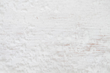 Christmas background - Old white wood texture with snow. top view. vintage and rustic style