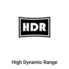 High Dynamic Range Imaging icon vector isolated on white background, logo concept of High Dynamic Range Imaging sign on transparent background, black filled symbol