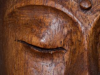 Statue eyes wooden