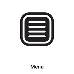 Menu icon vector isolated on white background, logo concept of Menu sign on transparent background, black filled symbol