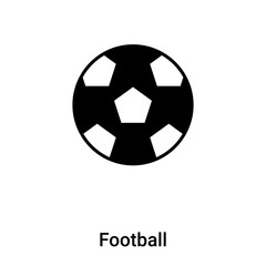 Football icon vector isolated on white background, logo concept of Football sign on transparent background, black filled symbol