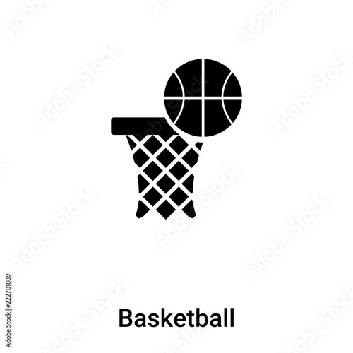 06da8b9f55db4 Basketball icon vector isolated on white background, logo concept of ...