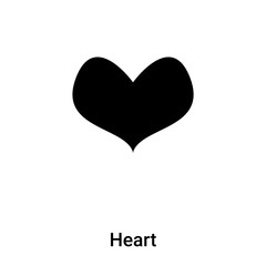 Heart icon vector isolated on white background, logo concept of Heart sign on transparent background, black filled symbol