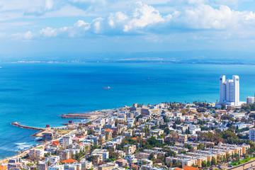 Aerial View of Haifa, Israel