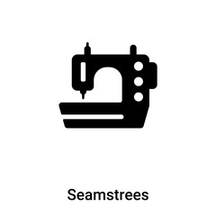 Seamstrees icon vector isolated on white background, logo concept of Seamstrees sign on transparent background, black filled symbol