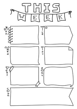 """Bullet Journal Planner Page """"This Week"""" printable letter or a4"""