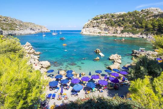 Anthony Quinn Bay on Rhodes island, Greece