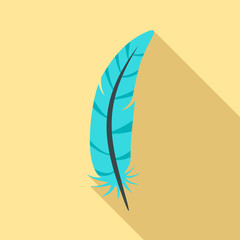 Print feather icon. Flat illustration of print feather vector icon for web design