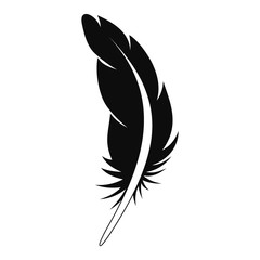 Tattoo feather icon. Simple illustration of tattoo feather vector icon for web design isolated on white background