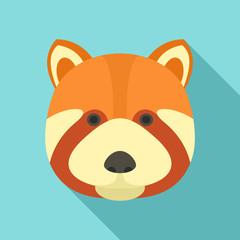 Fox head icon. Flat illustration of fox head vector icon for web design